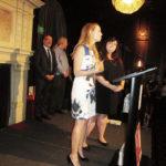 Andrea Fitanides and Caitlin May at the podium (Morgan, Lewis & Bockius LLP)