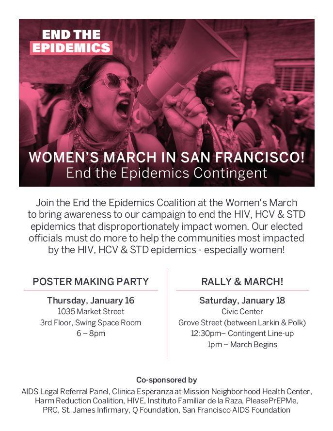 Women's March San Francisco - End the Epidemics Contingent