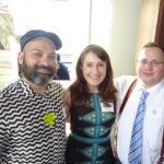 Folsom Vice President Vicente Montoya, Folsom Volunteer Coordinator Jennifer Schuster and Folsom Treasurer Paul Hendry