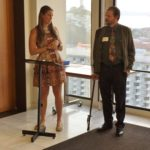 Volunteer Coordinator Hannah Center and Ray Dolan