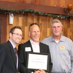 ALRP Board Member Matthew Richards, Honoree Karl Christiansen, ALRP ED Bill Hirsh
