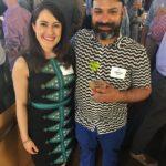 Folsom Volunteer Coordinator Jennifer Schuster and Folsom Vice-President Vicente Montoya