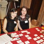 Jennifer Schuster and Nicki Griffin at registration