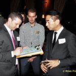 Jeff Jacobi, Jeff Dulgar, and David Tsai - auction bidding war winner! (L to R)