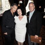 John Hoffman and partner Kimberly Hathaway with Jim McBride (L to R)