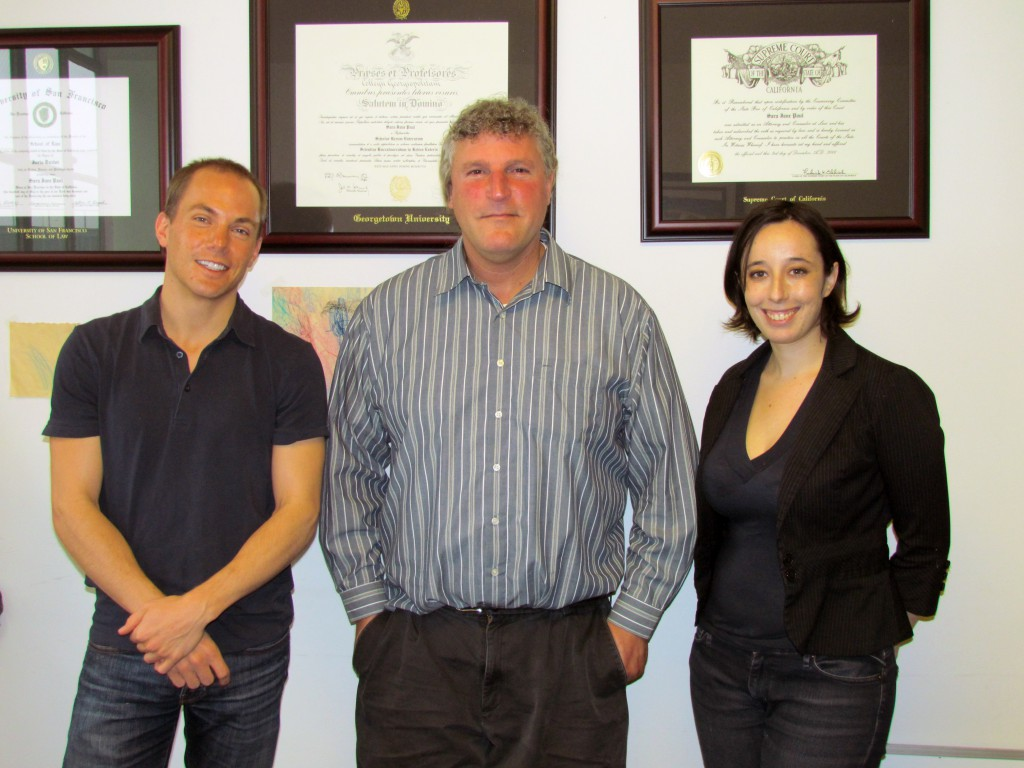 Law Clerks Nathan Bewley and Kim Shindel with ALRP ED Bill Hirsh