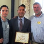 ALRP Board Member Robert Esposito, David Tsai, and ALRP Executive Director Bill Hirsh