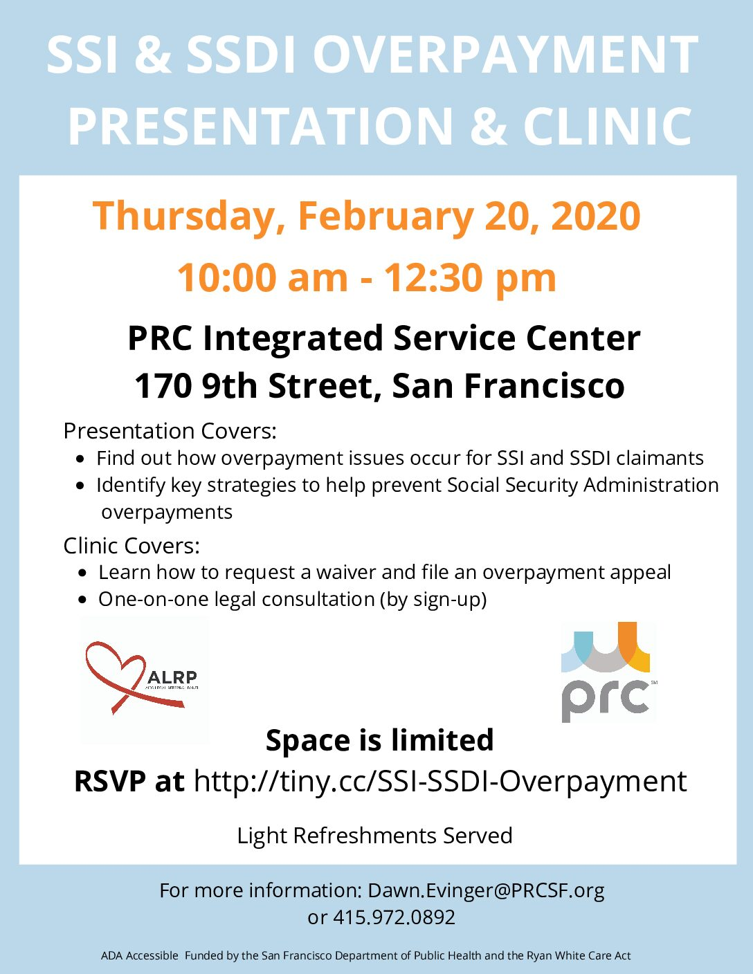 SSI & SSDI Overpayment Presentation and Clinic